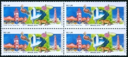 BRAZIL 2018  - GUYANA ,TOURISM, FLORA AND FAUNA - KAIETEUR FALLS - BLK OF 4   MINT - Unused Stamps