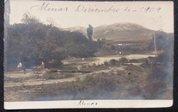 HC Post 1909 - URUGUAY Minas VIEW - WAGON - Edit: SALAZAR -  NICE REAL PHOTO POSTCARD - USED RPPC - Uruguay
