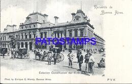 105128 ARGENTINA BUENOS AIRES ESTACION DE TREN STATION TRAIN CONSTITUCION  POSTAL POSTCARD - Argentina