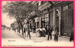 Uruguay - Montevideo - Calle 18 De Julio - Devant Fotografia - Shop - Attelage - Très Animée - Ed. ENRIQUE MONEDA  N° 4 - Uruguay