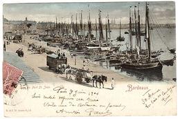 BORDEAUX (33) - Quai Du Port Saint Jean - Carte Colorisée - Ed. R. & J. D. - Bordeaux