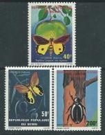 Bénin N° 505 / 07 X  Faune : Insectes, Les 3 Valeurs  Trace De Charnière Sinon TB - Bénin – Dahomey (1960-...)
