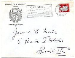 CALVADOS - Dépt N° 14 = CABOURG 1962 = FLAMME Non Codée = SECAP Illustrée 'PLAGE / FLEURS FETES ' + ARMOIRIES MAIRIE - Postmark Collection (Covers)