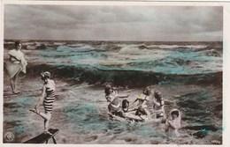 Carte Postale Ancienne Fantaisie - Femmes En Maillot De Bains - Bains De Mer - Femmes