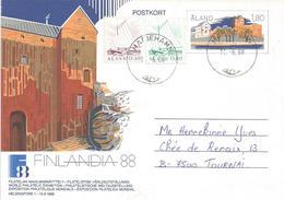 Aland 1988 Mariehamn Sailing Ships Castle Postal Stationary Postcard - Aland