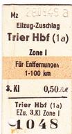 PIE-VPT-18-001 :  TICKET DE TRANSPORT TRAIN?  ELIZUG-ZUSCHLAG. ZONE 1 FÜ ENTFERNUNGEN. - Titres De Transport
