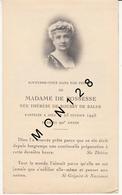 FAIRE PART DECES 23/2/1945 DE MADAME DE POSSESSE NEE THERESE DE ROUSSY DE SALES - Décès