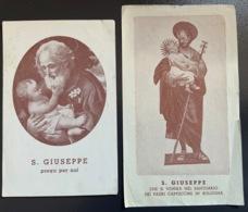 "Antico Santino Holy Card "" SAN GIUSEPPE "" Santuario Padri Capuccini Bologna - Religione & Esoterismo"