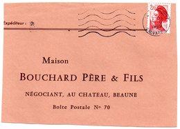 CALVADOS - Dépt N° 14 = CARPIQUET 1989 =  FLAMME à DROITE  = SECAP Muette '5 Lignes Ondulées' - Postmark Collection (Covers)