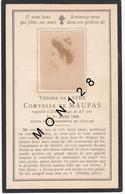 FAIRE PART DECES 01/08/1898 DE THERESE DE LAYRE COMTESSE DE MAUPAS - Décès
