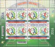 2016 Kazakhstan -2016 -15th European Football Championship In France - Sheetlet  MNH** MiNr. 968 - 969 - Kazakhstan