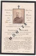 FAIRE PART DECES 30/11/1888 DE EDOUARD BRAME INSPECTEUR GENERAL DES PONT ET CHAUSSEES - Décès