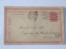 Entier Postal Envoyé De Schaerbeek Vers Anvers Le 17-09-1920 ... Lot7 . - Entiers Postaux