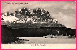 Chile - Estrecho De Magallanes - Canal De Las Montanas - Magellano - Paquebot - Bateau à Vapeur - Ed. R. ROSAUER N° 508 - Chile