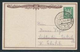 Privatpostkarte MiNr. PP 81 C 3 04, 23.-28.8.1924 Hannover, Neuntes Deutsches Sängerbundesfest, Gestempelt SSt., 5 Pf. - Deutschland
