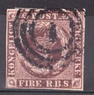 Danemark - 1851/54 - N° 2 Brun - 1851-63 (Frederik VII)