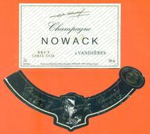 étiquette + Collerette De Champagne Brut Nowack à Vandières - 75 Cl - Champagne