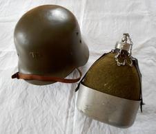Casque + Gourde Modèle 1942 Espagne - WW2 - Headpieces, Headdresses