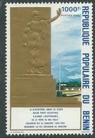 Bénin  N° 508 X Monument Du Roi Gbehanzin, 1000 F. Polychrome Et Or  Trace De Charnière Sinon TB - Benin - Dahomey (1960-...)