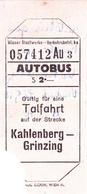 PIE-VPT-18-005 :  TICKET DE TRANSPORT. AUTOBUS. KAHLENBERG GRINZING - Titres De Transport