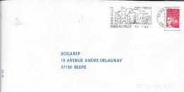 HAUT RHIN 68  -  RIBEAUVILLE  -  FLAMME VOIR DESCRIPTION  -  1998  -  THEME VINS - Marcophilie (Lettres)