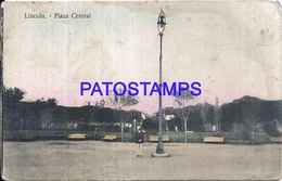 105135 ARGENTINA LINCOLN BUENOS AIRES PALZA CENTRAL SPOTTED POSTAL POSTCARD - Argentina