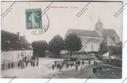 TRES RARE CPA SAINT ANDRE EN MORVAN (58) : La Place (boulangerie Rappeneau) - Autres Communes