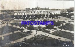 105140 ARGENTINA  MERCEDES BUENOS AIRES PLAZA SAN MARTIN Y MUNICIPALIDAD SPOTTED POSTAL POSTCARD - Argentina