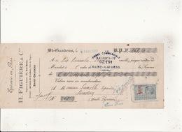 Epicerie En Gros H FIGUIERE & Cie 27 Rue Mathe SAINT GAUDENS  21 Nov 1919  Timbre 40c - Cambiali