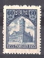 Pologne - 1933 - N° 363 - Neuf * - Hôtel De Ville De Torun - 1919-1939 Republic