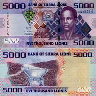 SIERRA LEONE       5000 Leones       P-32[b]       4.8.2015       UNC - Sierra Leona
