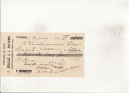 Mercerie En Gros P Sénaillé & J Pouyanne SAINT GAUDENS  10 Janv 1920 Timbre Quitance 20c - Cambiali