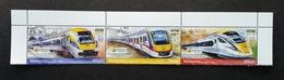 "Malaysia ""Overprint"" Electric Train Service ETS 2018 Locomotive Railway (setenant O/p Strip With Margin) MNH *unissued - Malaysia (1964-...)"
