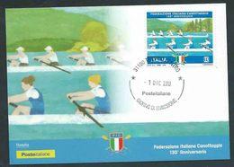 Italia, Italy, Italien 2018; Federazione Italiana Canottaggio, 130° Anniversario; Maximum E FDC A Treviso Centro - Canottaggio