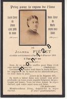 FAIRE PART DECES 8/02/1891 DE JOANNA FIEVET - Décès