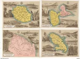 Lot De 7 CHROMOS Des Dom Tom - Martinique -Guyane -Réunion- Taiti- Nouvelle-Calédonie -St Pierre Et Miquelon -Guadeloupe - Géographie