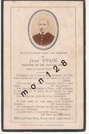FAIRE PART DECES 25/07/1897 DE JEAN EVAIN - Décès
