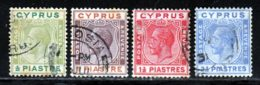 Chypre 1924 Yvert 86 / 94 (o) B Oblitere(s) - Cyprus (...-1960)