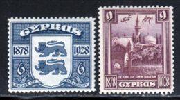 Chypre 1928 Yvert 111 / 112 * TB Charniere(s) - Cyprus (...-1960)