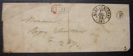 Azay Le Rideau 1855 Correspondance Locale, Boite Rurale B, Sans Timbre - 1849-1876: Classic Period