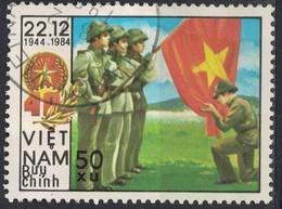 Vietnam 1984 Oblitéré Used Armée Militaires Soldats Serment Sous Le Drapeau - Vietnam