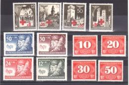 Pologne - Occupation Allemande - 1940 - Gouvernement Général - 3 Séries Complètes - Neufs * - 1939-44: 2ème Guerre Mondiale