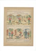 Adrien Le Brutal (à Colorier) Protège-cahier Couverture 220 X 175 TB 3 Scans - Book Covers