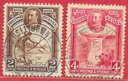 Guyane Britannique N°138 2c & N°139 4c 1911 O - British Guiana (...-1966)