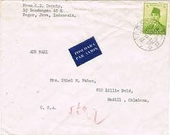 30804. Carta Aerea  BOGOR (Java) Indonesia 1957. Sukarno President - Indonesia