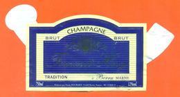 étiquette + Collerette De Champagne Brut Fourmet Héry à Berru - 75 Cl - Champagne
