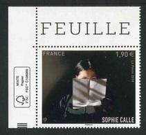 """Timbre** Gommé De 2018 """"Sophie CALLE"""" - France"""