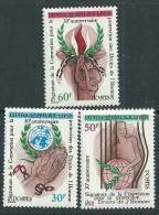 Bénin  N° 515 / 17 X  30ème Ann. De La Conv. Pour La Protection Des Droits De L'Homme 3 Vals Trace De Charnière, TBi - Bénin – Dahomey (1960-...)