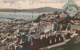 ***  GIBRALTAR ***  GB - Espagne - GIBRALTAR  A Bird's Eye View Of The Town - - Gibraltar