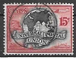 1949 UPU, 15 Cents, Used - Sri Lanka (Ceylon) (1948-...)